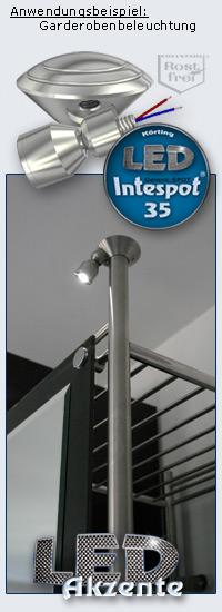 Intespot 35 zur Beleuchtung einer Garderobe